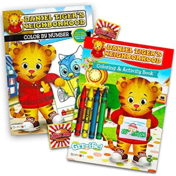 Amazon.com: Daniel Tiger\'s Neighborhood Coloring and Activity Book ...