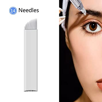 50 Pcs Tattoo Needles U 21 Pin Permanent Makeup Microblading Needle Blades For Eyebrow Manual Pen 3d Embroidery To Rank First Among Similar Products Tattoo Needles