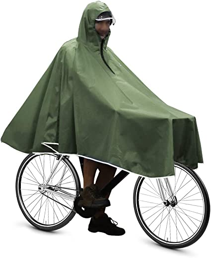 Waterproof Bike Cycling Raincoat Rain Proof Cape Poncho Coat Bicycle Camping
