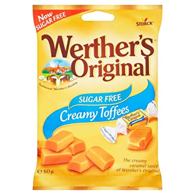 Werthers original sugar free toffee 80 g amazon grocery werthers original sugar free toffee negle Images