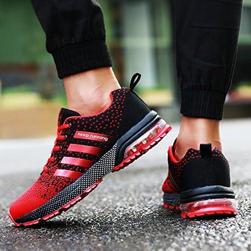 Senbore Chaussures de Sport Basket Running Respirantes Athlétique Sneakers Courtes Fitness Tennis Homme - Rouge-3 - 39 EU