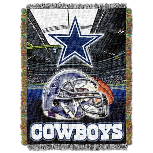 The Northwest Company Officially Licensed NFL Dallas Cowboys Home Field Advantage Woven Tapestry Throw Blanket, 48