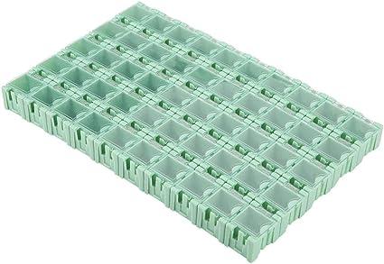 2 PEZZI Contenitore componibile SMD box componenti elettronici o minuterie