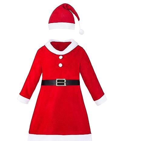 Disfraz de Mama Noel con Vestido,Gorro y Cinturón para ...