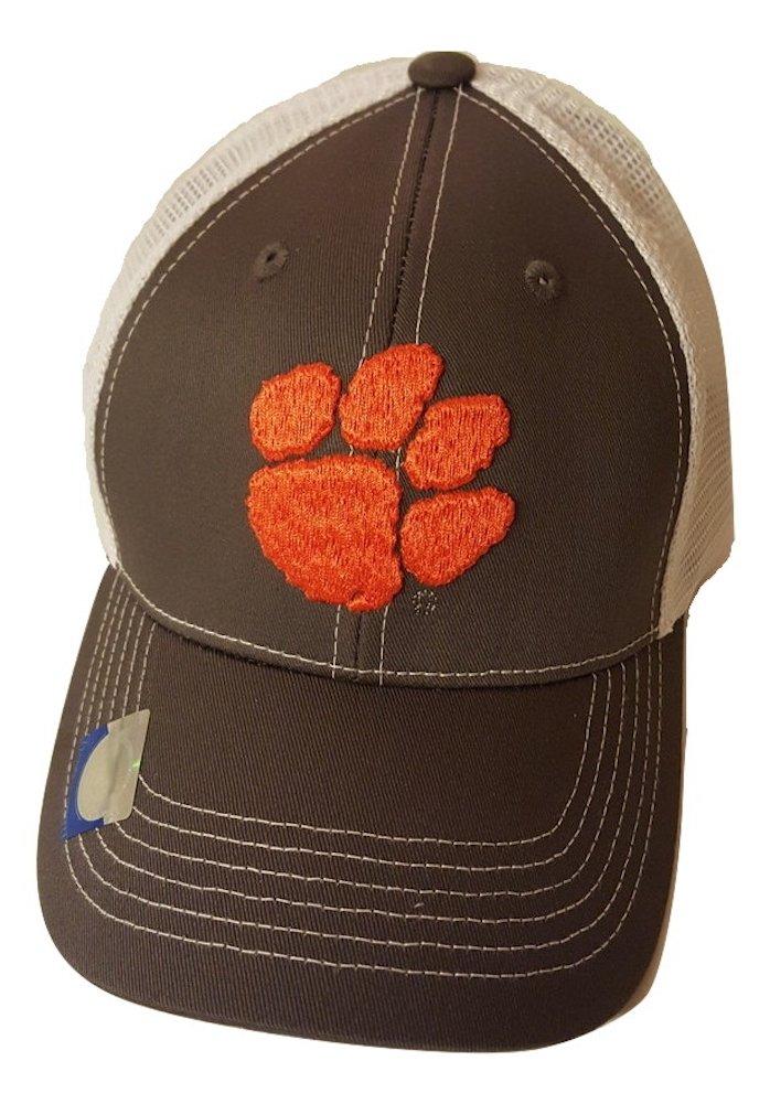 Clemson Tigers Adjustable Gray Cap Mesh Back Hat