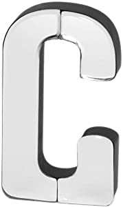 Collective Home - 7-inch Tall Mirrored Glass and Wood Decorative Letter, Home-Bedroom-Office Décor. Perfect Fun Gift to Encourage Girls, Young Ladies & Teens. (C)