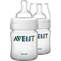 Philips Avent Classic Plus Newborn Flow Baby Bottle, 125Ml, 2 Pack, Scf560/62