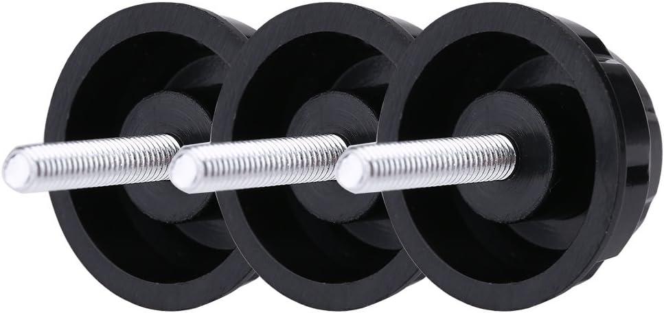 Mootea Fishing Power Handle Screws Spinning Reel Handle Screw 10 Pcs Practical Durable Screw Cap Covers with Gaskets for Fishing Spinning Reel Handle