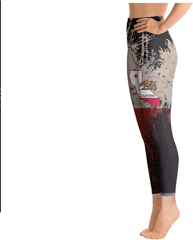 medssii Girl Yoga Pants California Republic Bear Poster Light Long Yoga Pants Yoga Leggings with Pockets
