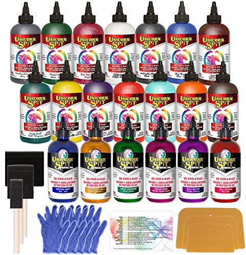Unicorn Spit Entire Collection 8oz 20-Pack All Original Colors and New Sparkling Colors, Pixiss Accessory Kit and Exclusive Guide