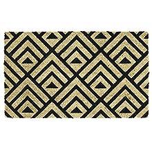 """DII Indoor/Outdoor Natural Coir Easy Clean Rubber Non Slip Backing Entry Way Doormat For Patio, Front Door, All Weather Exterior Doors, 18 x 30"""" - Tri Decco"""