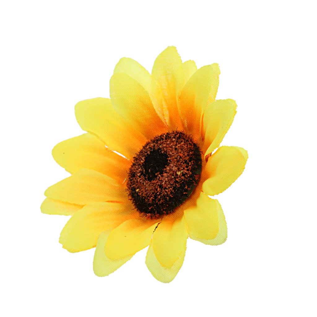 30pcs 8cm Planta Flor de Cabezas de Girasol Artificial Seda Decoraci/ón Boda Casa Color Naranja