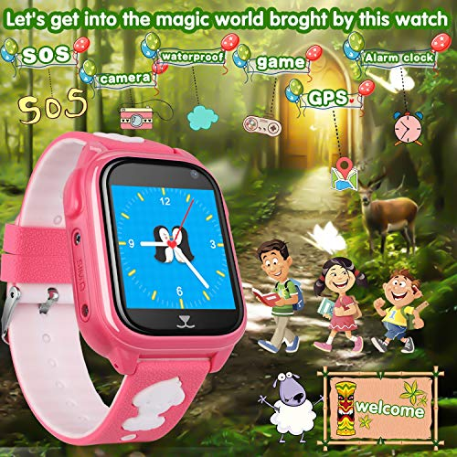 f5fd4872f5b1 Kids Smart Watch Phone with Free SIM Card Outdoor IP67 Waterproof ...
