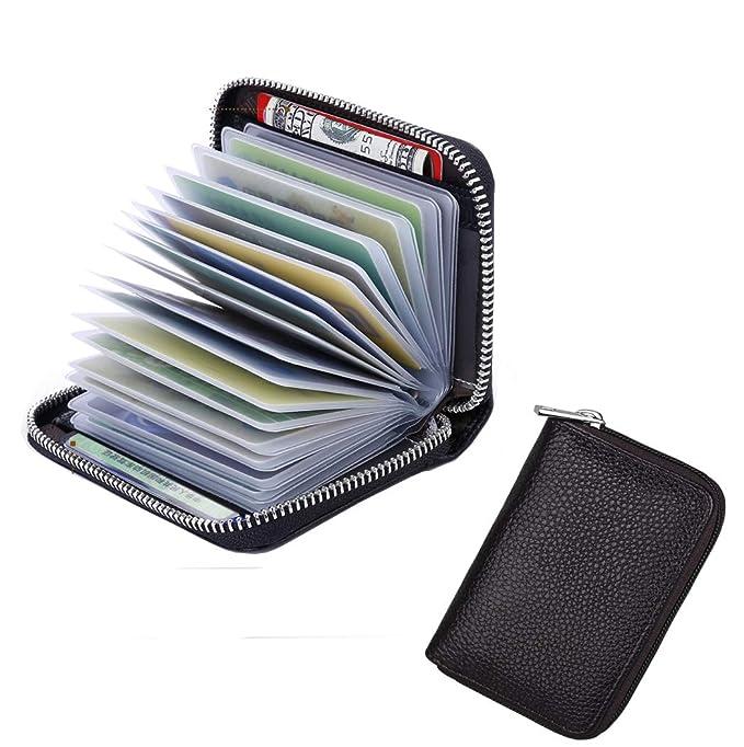 Amazon.com: Kenox - Funda de piel para tarjetas de crédito ...