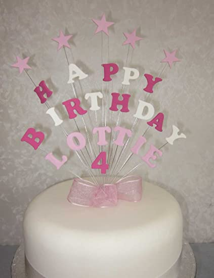 Image Unavailable Not Available For Colour Personalised Happy Birthday Cake Topper Any Name And Age