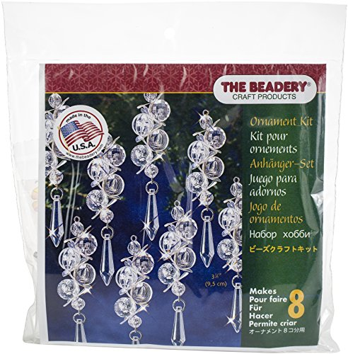 Beadery 7445 Iridescent Bubbles Makes 8 Holiday Beaded Ornament Kit Multicolor ()