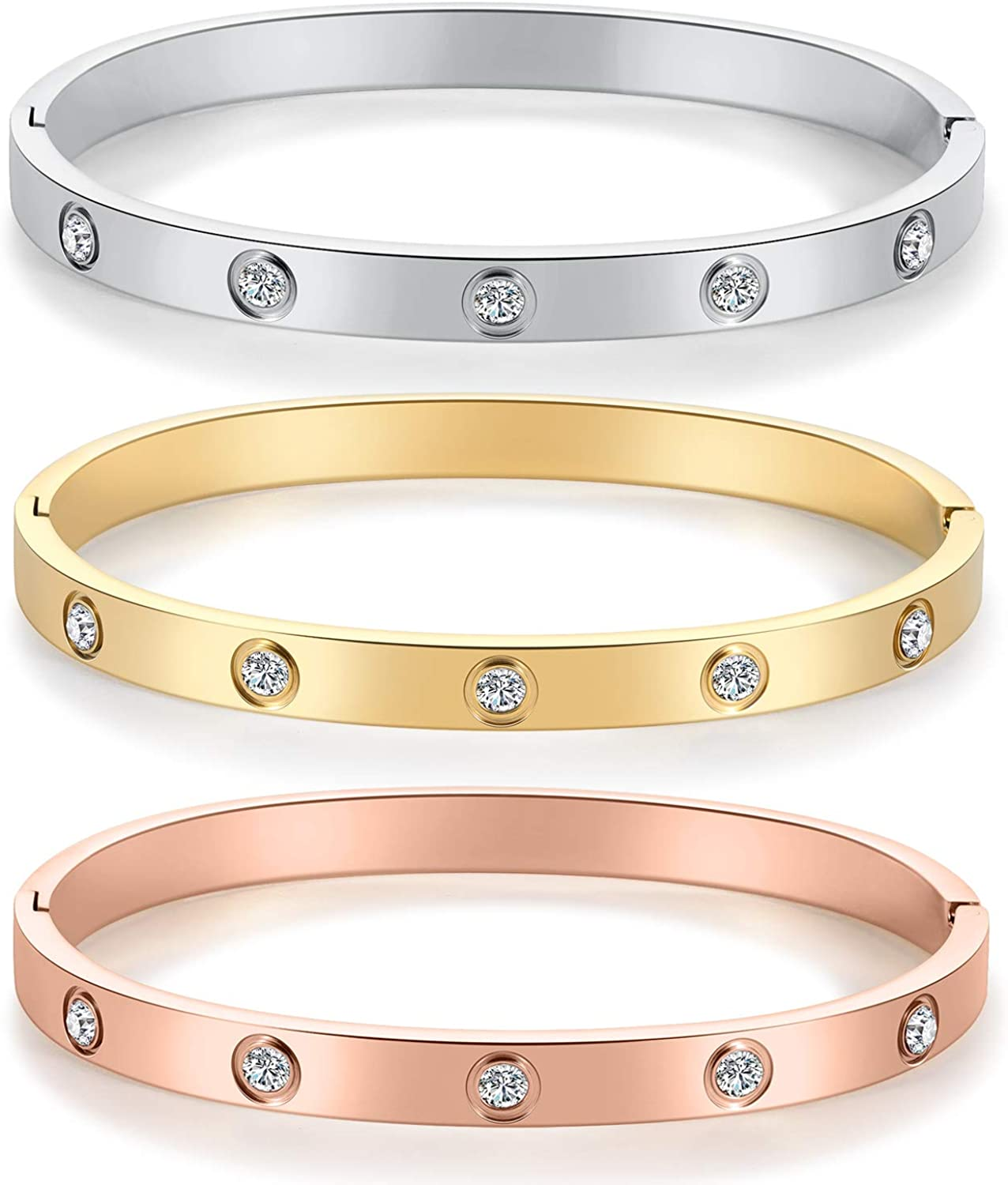mixed metals 22cm Circumference Silver bangle with gold open heart gift for her