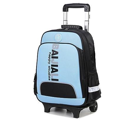 Gran capacidad 2018 MinegRong 2 ruedas Kids Mochila Trolley desmontable impermeable mochila de viaje niños mochilas