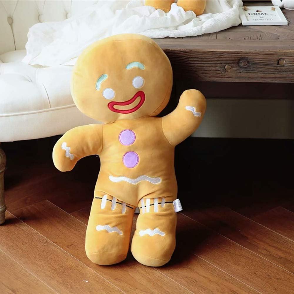 Spuik Hombre de pan de jengibre de juguete de felpa relleno suave almohada del sofá del animal relleno de Ragdoll Figurita galleta del hombre de la muñeca del amortiguador for la niña del cumpleaños d