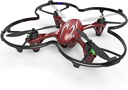 Hubsan X4 H107C 4 Channel 2.4GHz 6 Axis Gyro RC Quadcopter with 720P HD Camera and Protection Cover Mode 2 RTF (silver red)