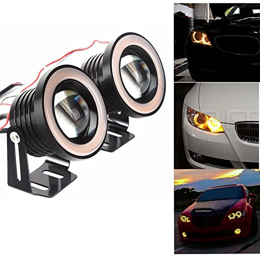 18 opinioni per Shiningeyes 2pcs 3,5 pollici(89mm) Giallo 12V 10W Impermeabile IP65 3200LM Auto