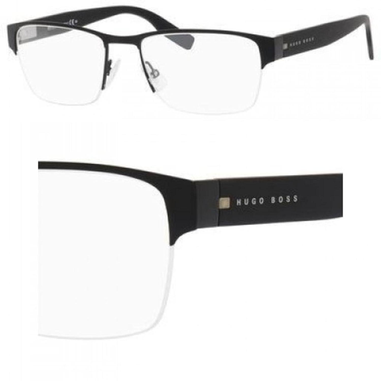 ea5a19d1ce4 Amazon.com  HUGO BOSS Eyeglasses 0562 094X Matte Black 55MM  Clothing