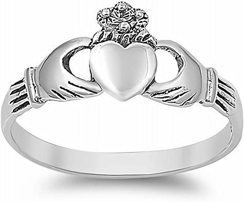 Cadeaux de bijoux mignons pour les femmes Croisement Gemlings Bague en Argent Sterling