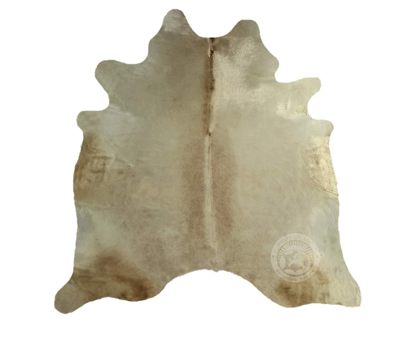 Teppich aus Kuhfell, Farbe  Beige Creme Creme Creme , Größe circa 180 x 210 cm, Premium - Qualität von Pieles del Sol aus Spanien B01EM8XIOK Teppiche 6c5759