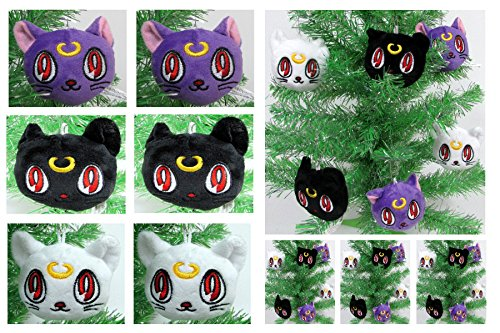 Sailor Moon Set of 6 Plush Christmas Tree Ornaments Around 2