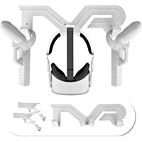 Esimen Oculus Quest 2 Wall Mount Storage Stand Hook with Grip Game Gun Pistol Case - VR Headset Stand(White)