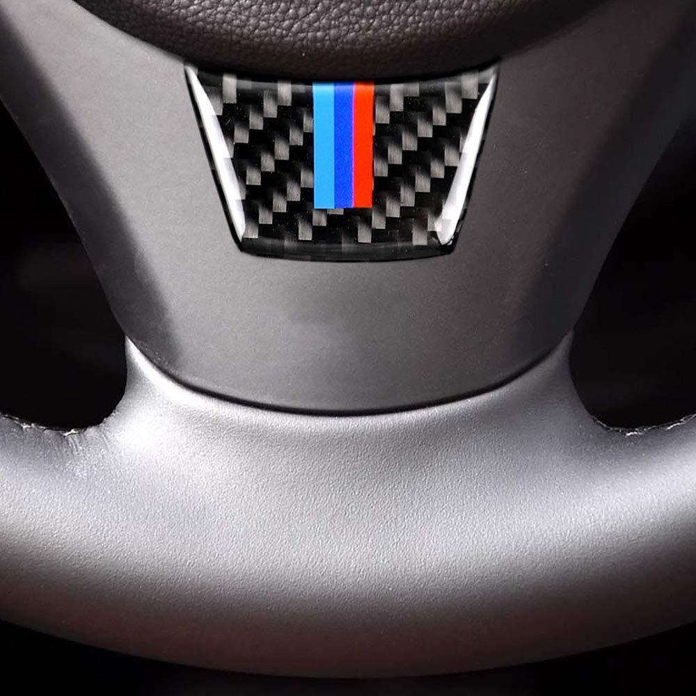 Copertura in Fibra di Carbonio KKmoon Adesivi per Volante Auto Stile D per BMW Serie 3 E90 E92 E93 2005 2006 2007 2008 2009 2010 2011 2012 Cornice Interna per Telaio