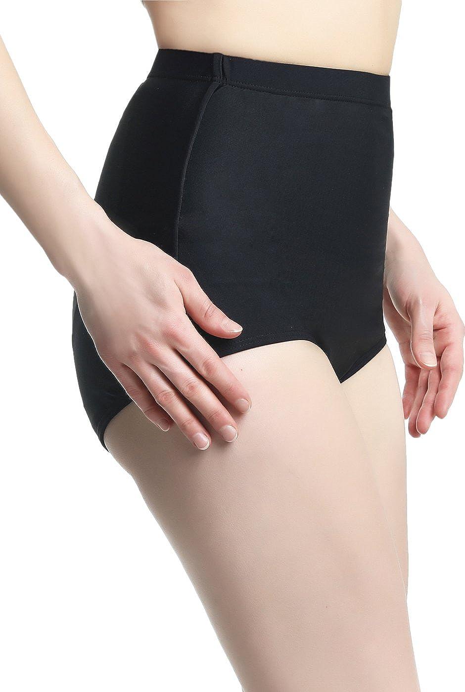 Regular /& Plus Size phistic Womens UPF 50 Full Coverage Swim Brief Bottoms