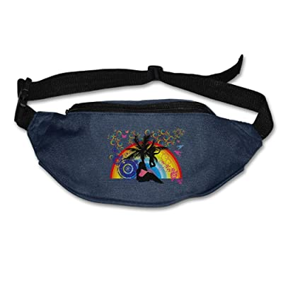 Janeither Unisex Pockets Colorful Sandy Beach Fanny Pack Waist/Bum Bag Adjustable Belt Bags Running Cycling Fishing Sport Waist Bags Black durable modeling