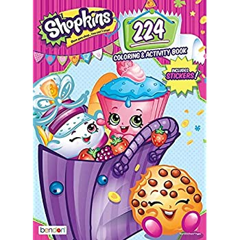 Bendon Shopkins 224 Page Coloring Activity Book Including Stickers