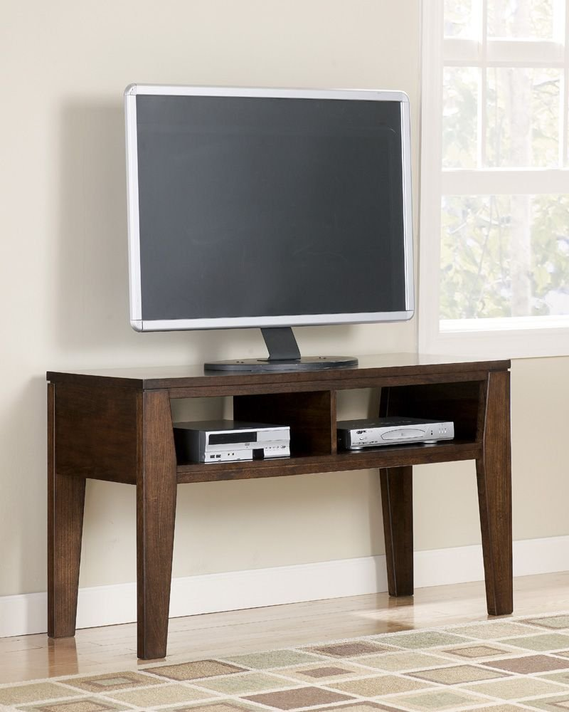 Contemporary Dark Brown Deagan TV Stand - angular contemporary design rich dark brown finish angled legs - tv-stands, living-room-furniture, living-room - 613BmOmwVpL -
