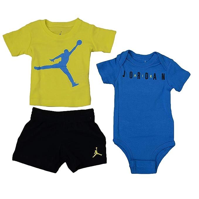 7ad5600769a Jordan Infant Boys 3-Piece Bodysuit, Tee Shirt, and Shorts Set Black/