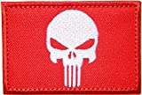 Red Skull Army Military Tactical Patch Iron On Vest Suit Jacket Backpack
