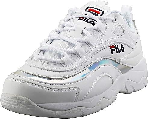 Fila Ray Femme Baskets White Silver 39.5 EU: