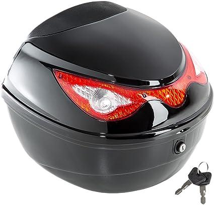 Oferta amazon: TecTake Universal baúl de moto scooter maleta motocicleta topcase negro 38x40x30cm