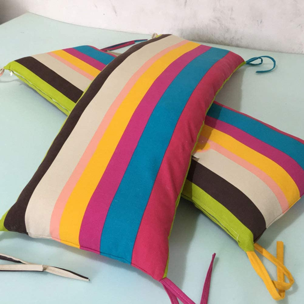 Thickness:7cm GX/&XD Color stripe Tatami Floor mat,Rectangular Seat cushioning Foldable Bench Chair pad Washable Bay window pad Sofa mat Long bench pad -A 16x47inch