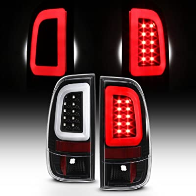 For 2008-2016 Ford F250 F350 F450 F550 SuperDuty Black LED Tube Tail Brake Lights Pair Left+Right: Automotive