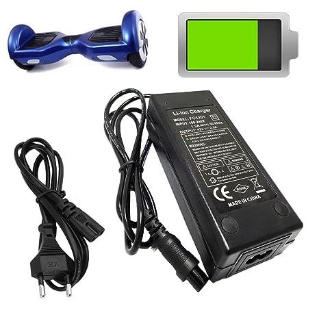 42 V 2 A eléctrica Stick Smart Balance Rueda Incluso Equilibrio Roller flotante Tabla Power Cargador de la UE conector