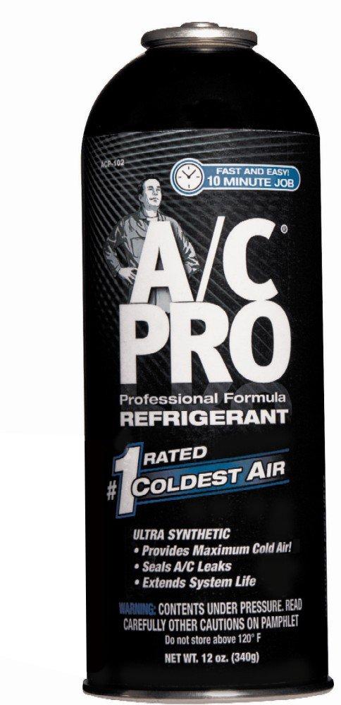 A/C PRO ACP-102CA A/C PRO Professional Formula R-134a Refrigerant Refill - 12 oz.