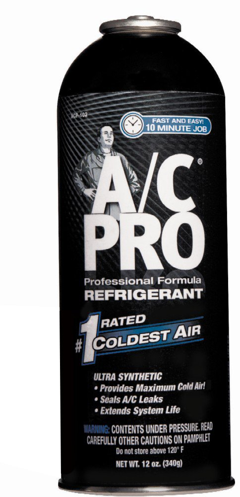 A/C PRO ACP-102CA A/C PRO Professional Formula R-134a Refrigerant Refill - 12 oz. by Interdynamics