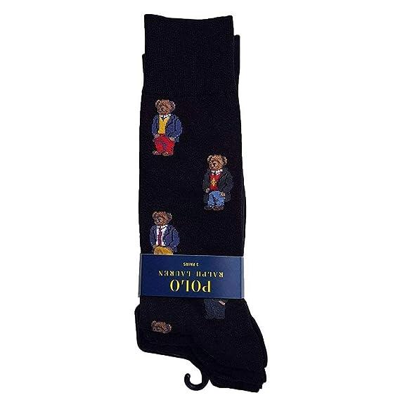 90e47ad41ab6 Ralph Lauren Polo Socks 3 Pack Black Bear Mens One Size One Size   Amazon.de  Bekleidung