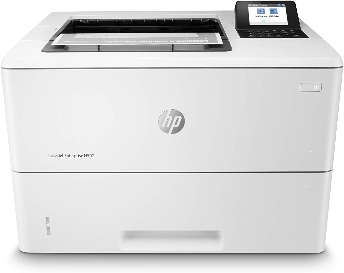 HP Laserjet Enterprise Printer M507n Works with Alexa (1PV86A), White, One Size