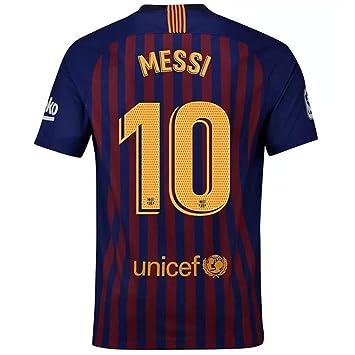 FLAGSPOND FC Barcelona Messi 10#- Camiseta de fútbol para Hombre, Temporada 2018-2019, Color Azul y Rojo, Medium, Azul: Amazon.es: Deportes y aire libre