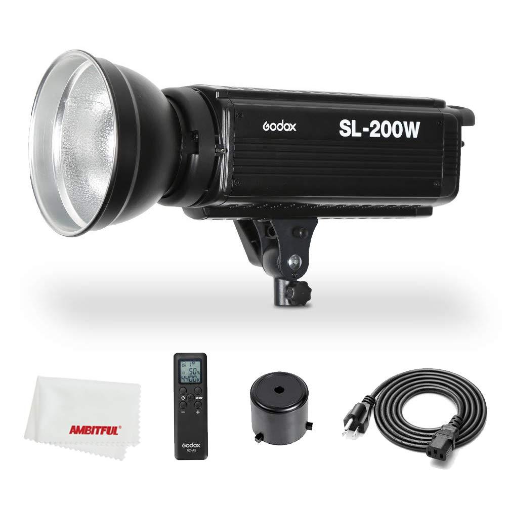 Godox SL-200W SL200W 200Ws 5600K Studio LED Continuous Photo Video Light Lamp w/Remote by Godox