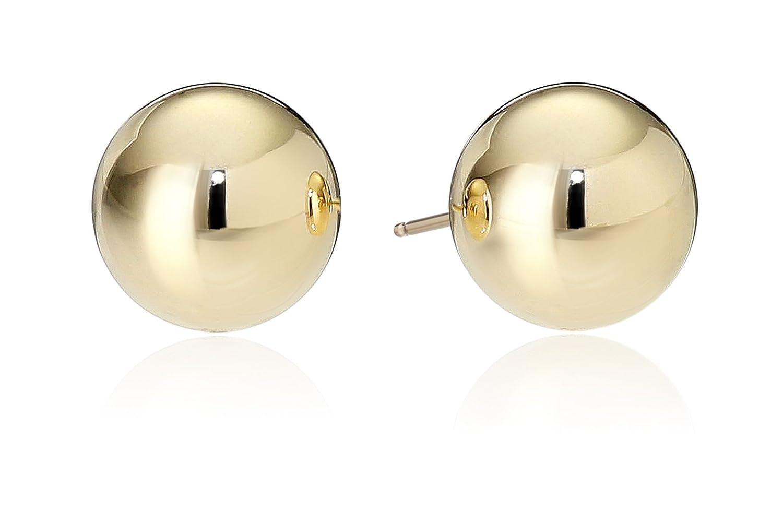 Amazon.com: 14k Yellow Gold 10mm Ball Stud Earrings: Jewelry