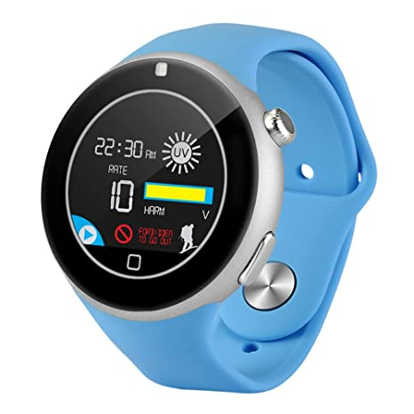 Aiwatch C5 1.22 inch Round Screen Sports Smartwatch Phone Remote Camera Heart Rate / Sleep Monitor IP67 Water-resistant Bluetooth Sync